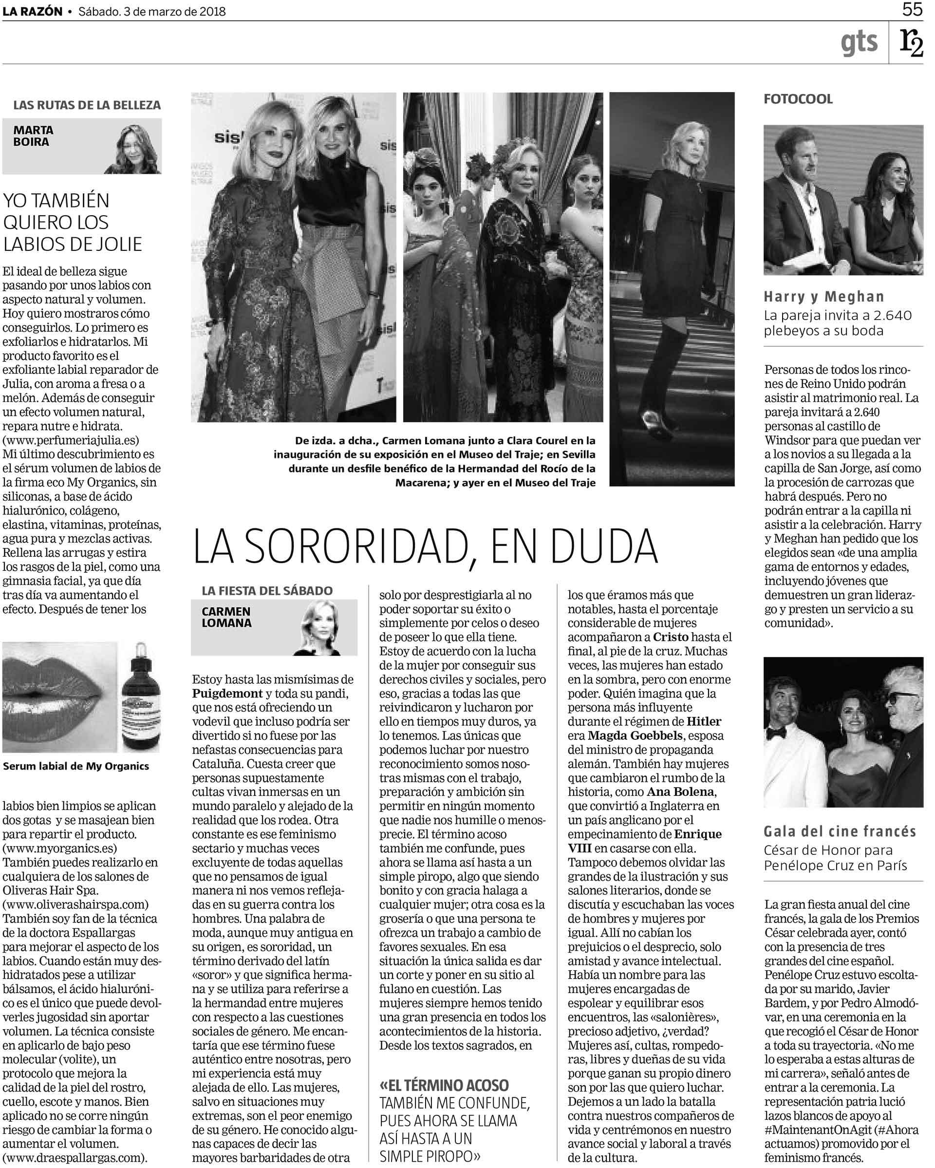 LA RAZÓN, 3 DE MARZO  MARTA BOIRA